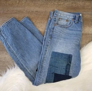 Madewell Boy Jean Patch Light Wash Jeans